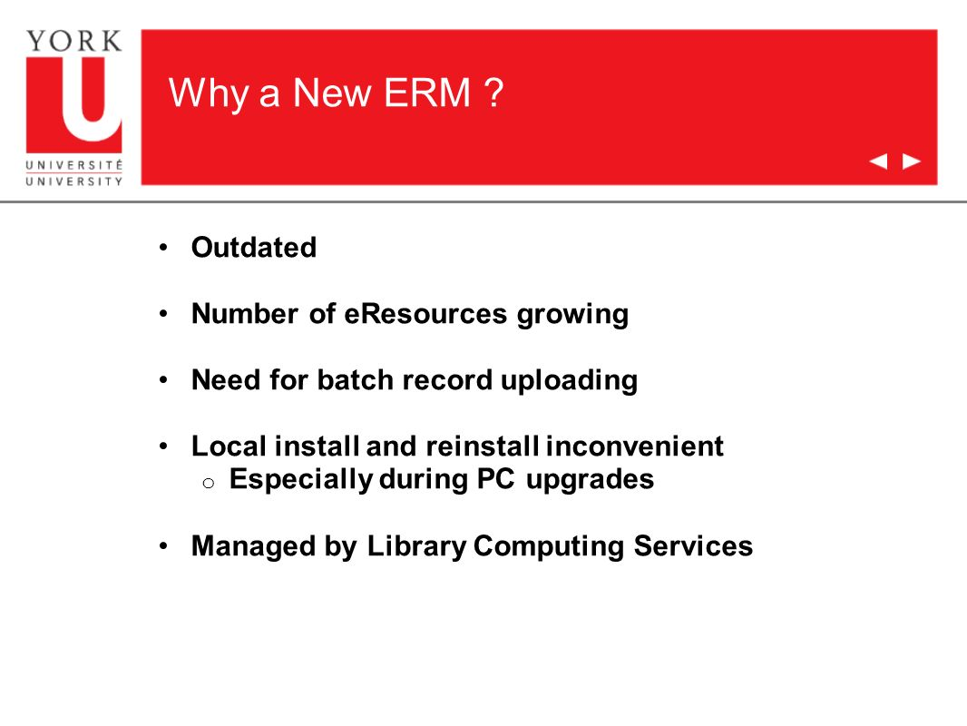 Why a New ERM .