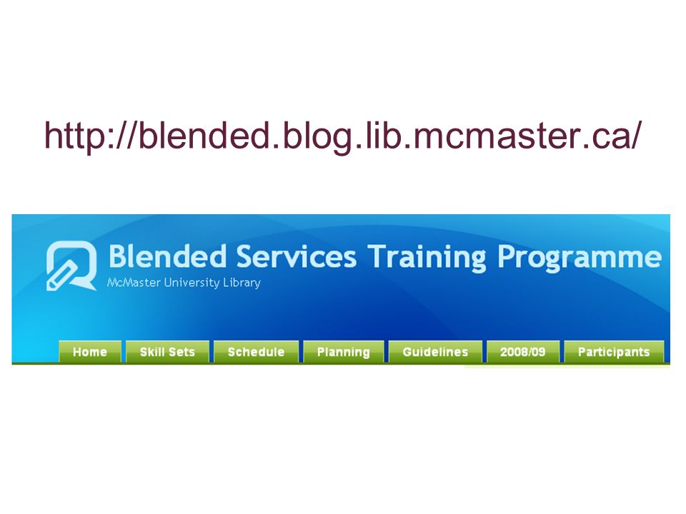 http://blended.blog.lib.mcmaster.ca/