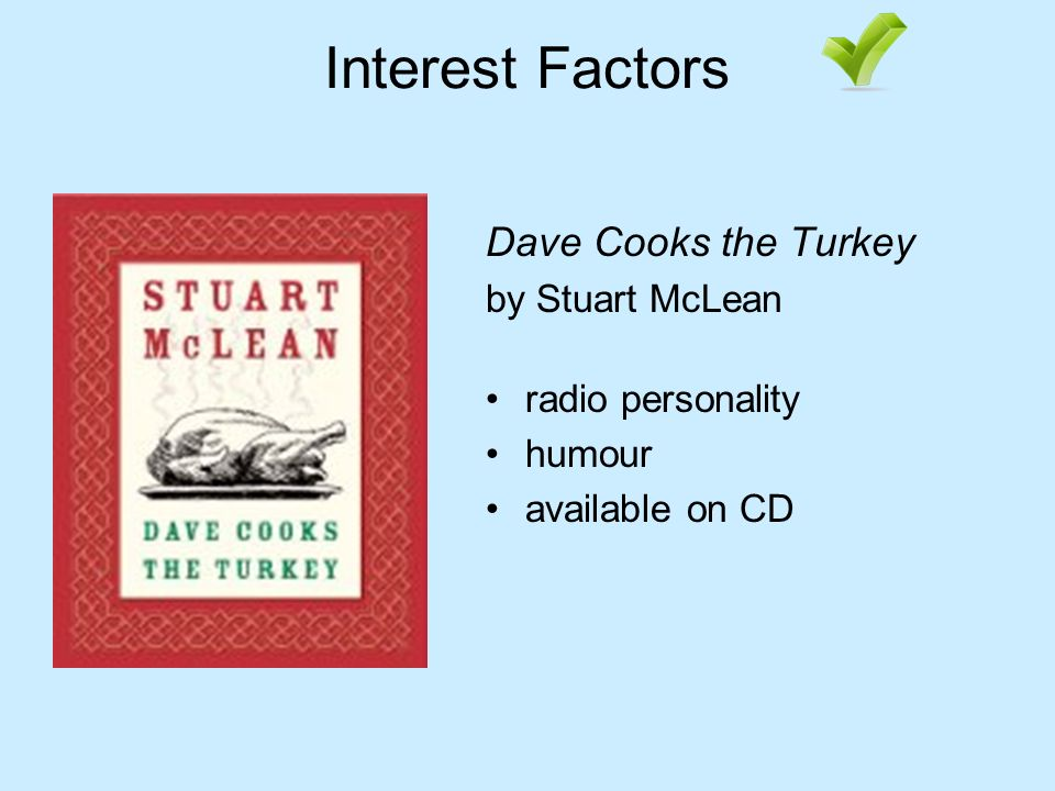 Interest Factors Dave Cooks the Turkey by Stuart McLean radio personality humour available on CD