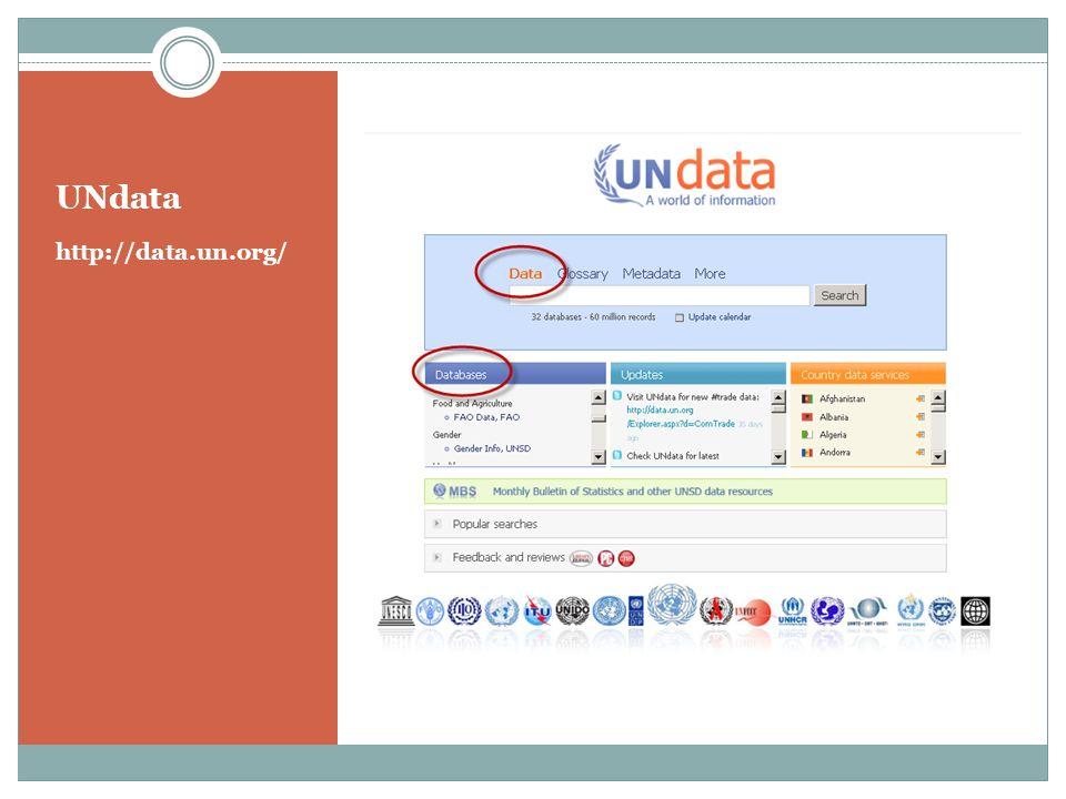 UNdata http://data.un.org/