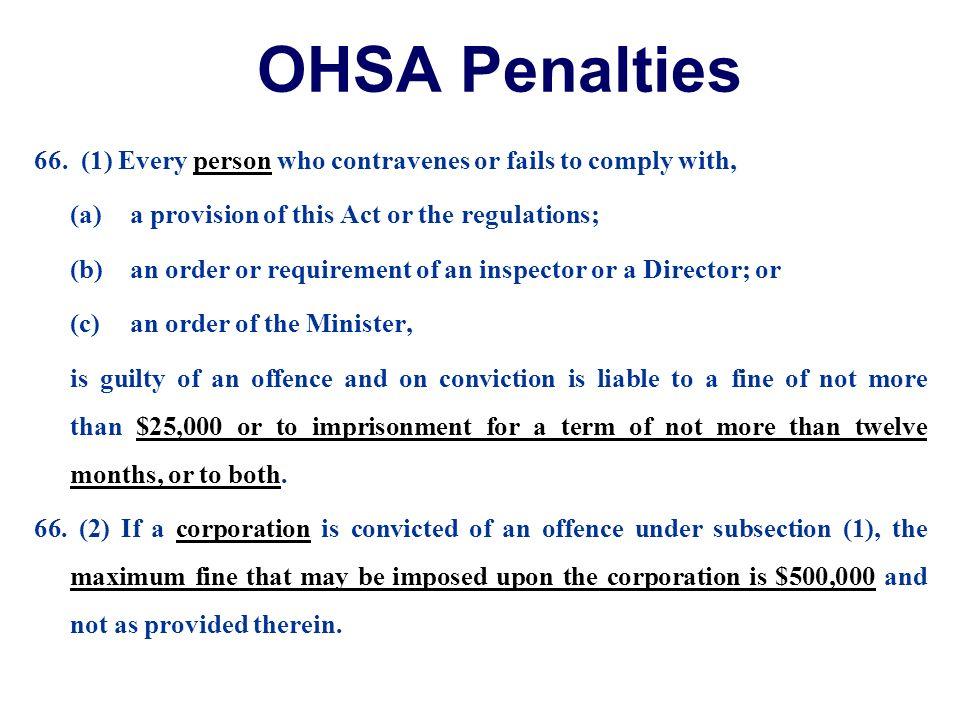 OHSA Penalties 66.