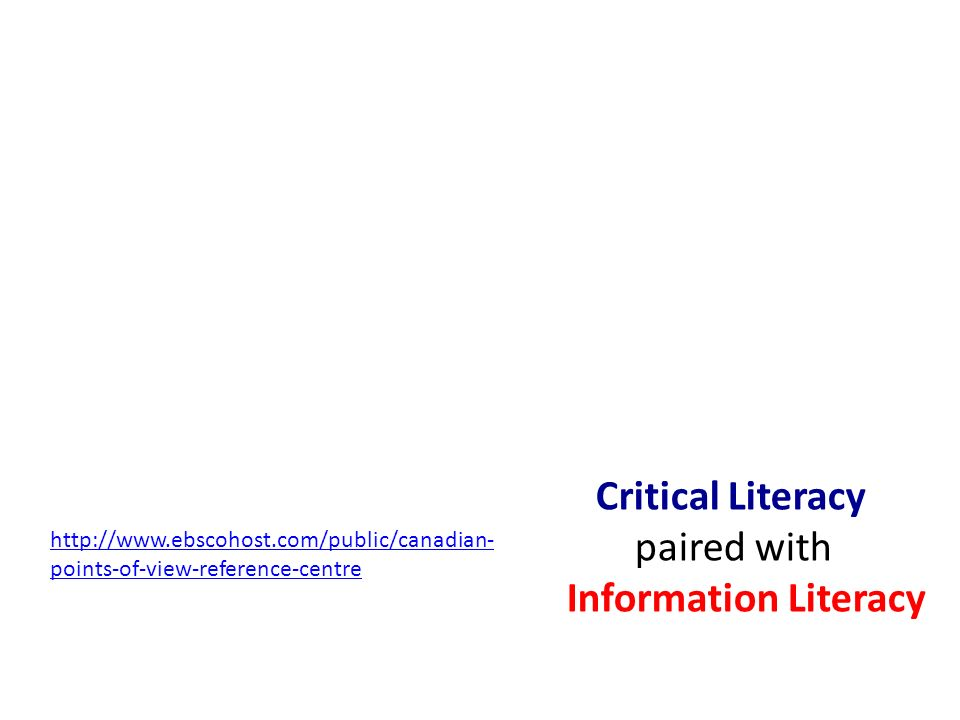 Critical Literacy paired with Information Literacy   points-of-view-reference-centre