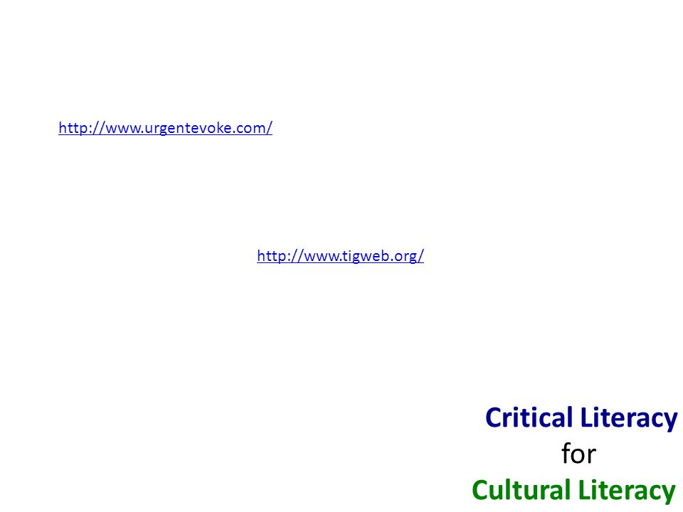 Critical Literacy for Cultural Literacy