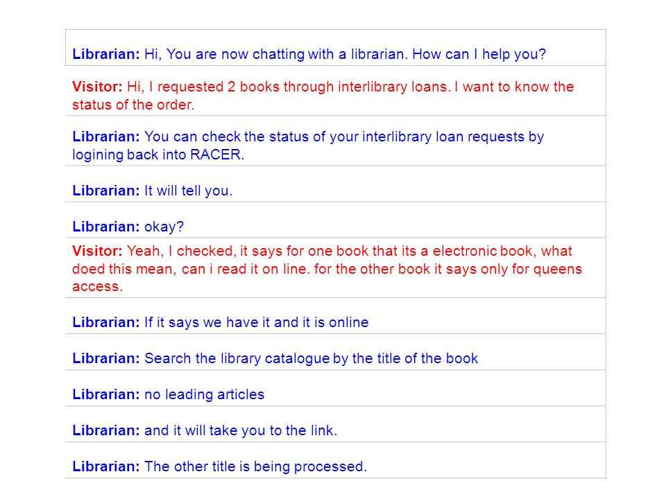 Librarian: Hi, You are now chatting with a librarian.