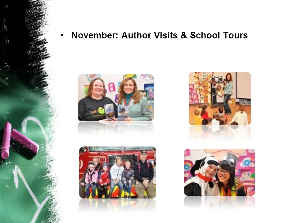 November: Author Visits & School Tours