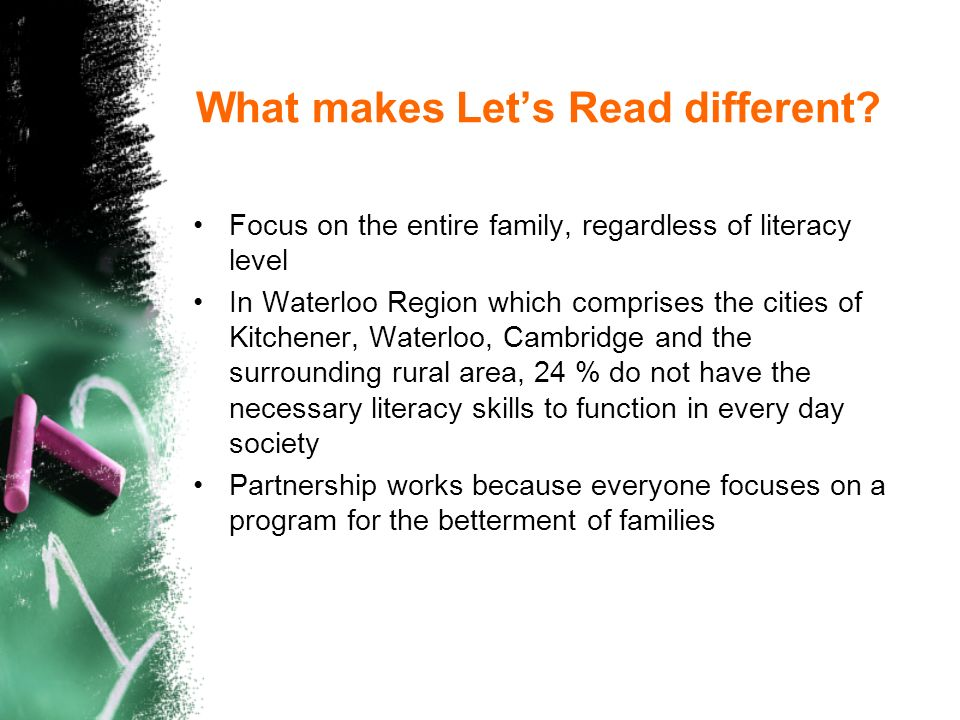 What makes Lets Read different.