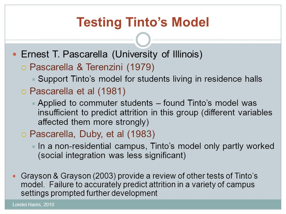 Testing Tintos Model Ernest T.