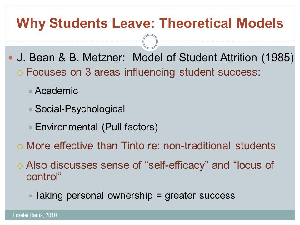 Why Students Leave: Theoretical Models J. Bean & B.