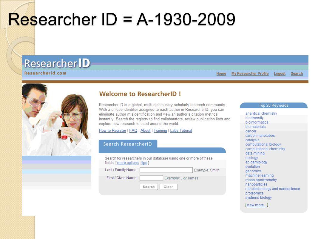Researcher ID = A-1930-2009
