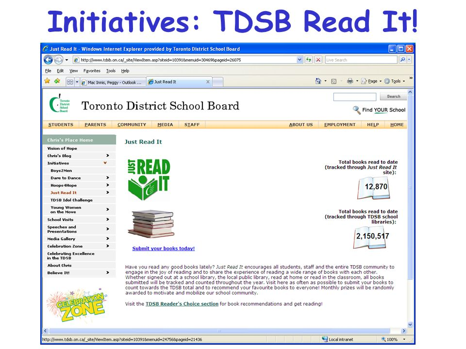 Initiatives: TDSB Read It!