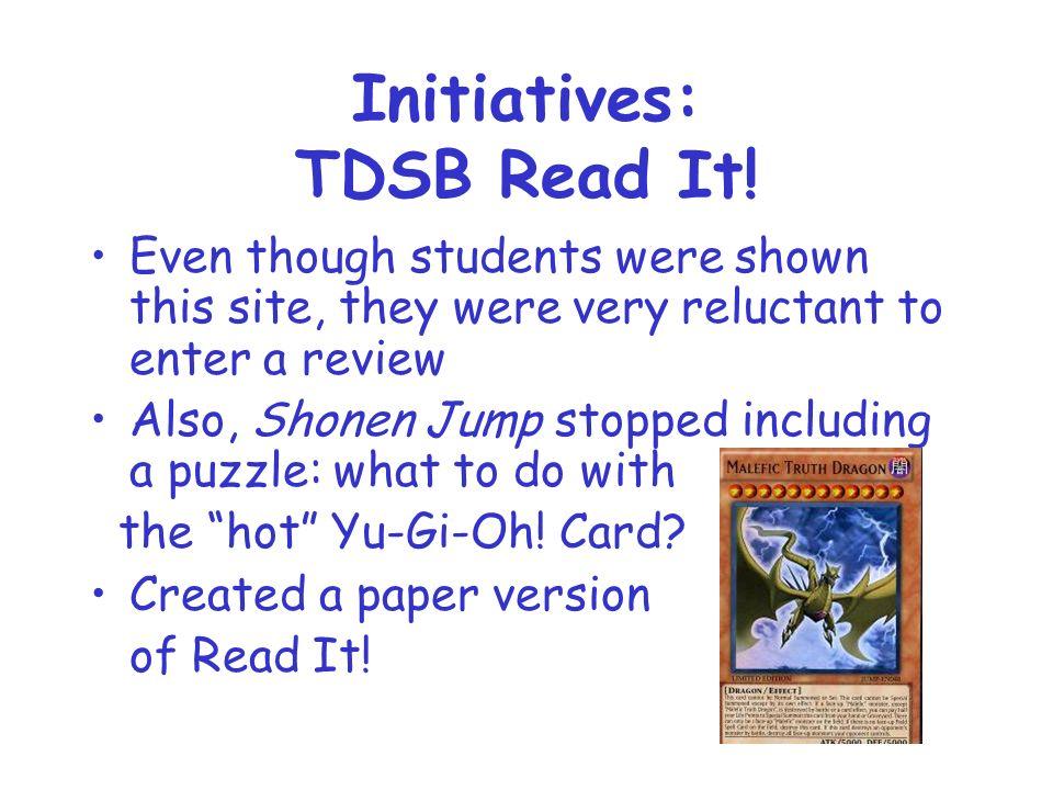 Initiatives: TDSB Read It.
