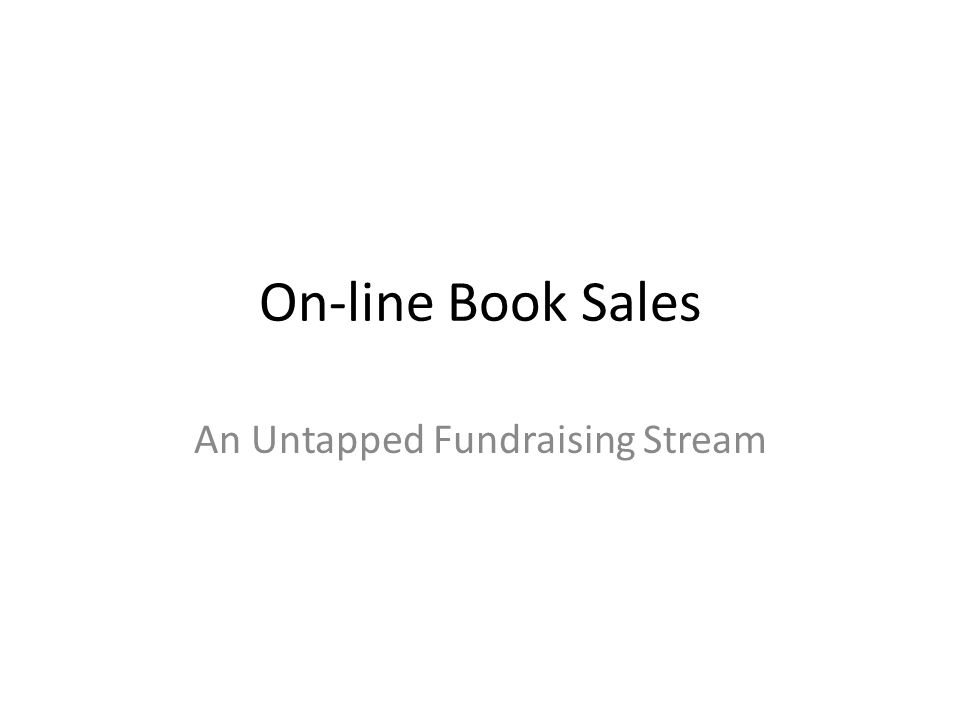 On-line Book Sales An Untapped Fundraising Stream