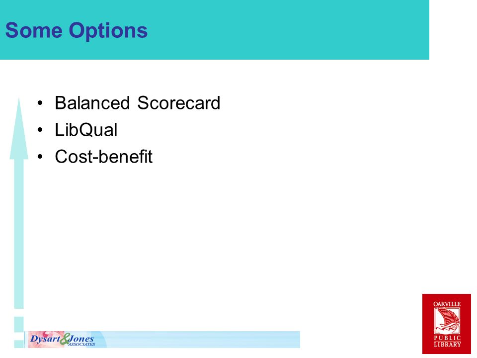 Some Options Balanced Scorecard LibQual Cost-benefit