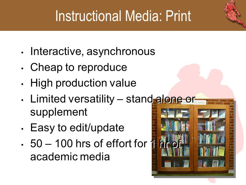 Instructional Media Print Internet/CBT Instructor