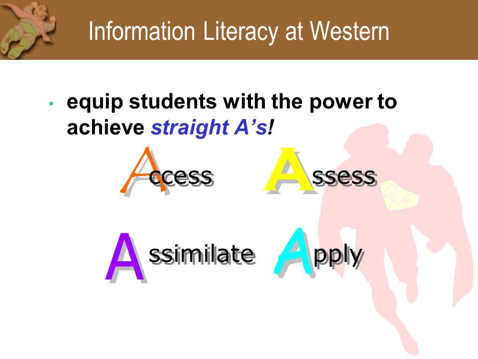 Information Literacy ACRL Information Literacy Competency Standards for Higher Education (2000) http://www.ala.org/ala/acrl/acrlstandards/standardsgui