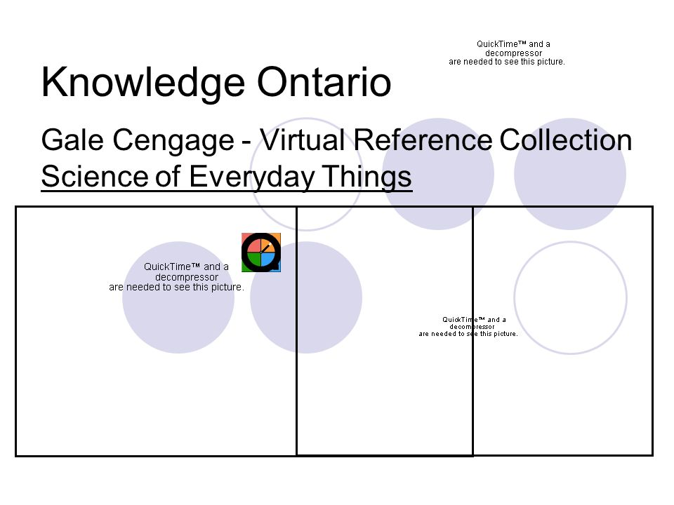 Knowledge Ontario Gale Cengage - Virtual Reference Collection Science of Everyday Things