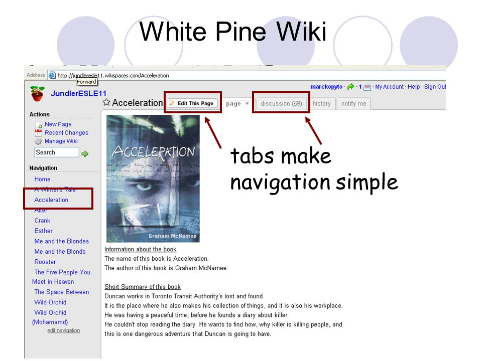 tabs make navigation simple White Pine Wiki