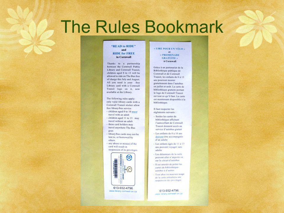 The Rules Bookmark