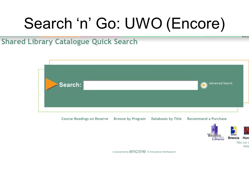 Search n Go: UWO (Encore)