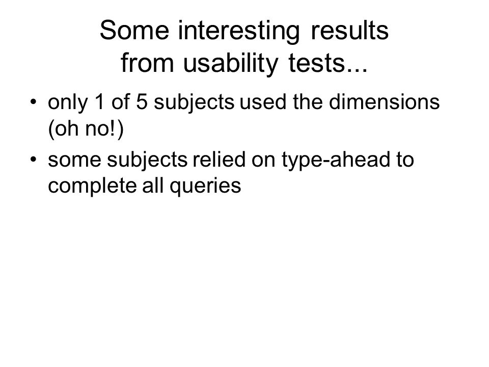 Some interesting results from usability tests...