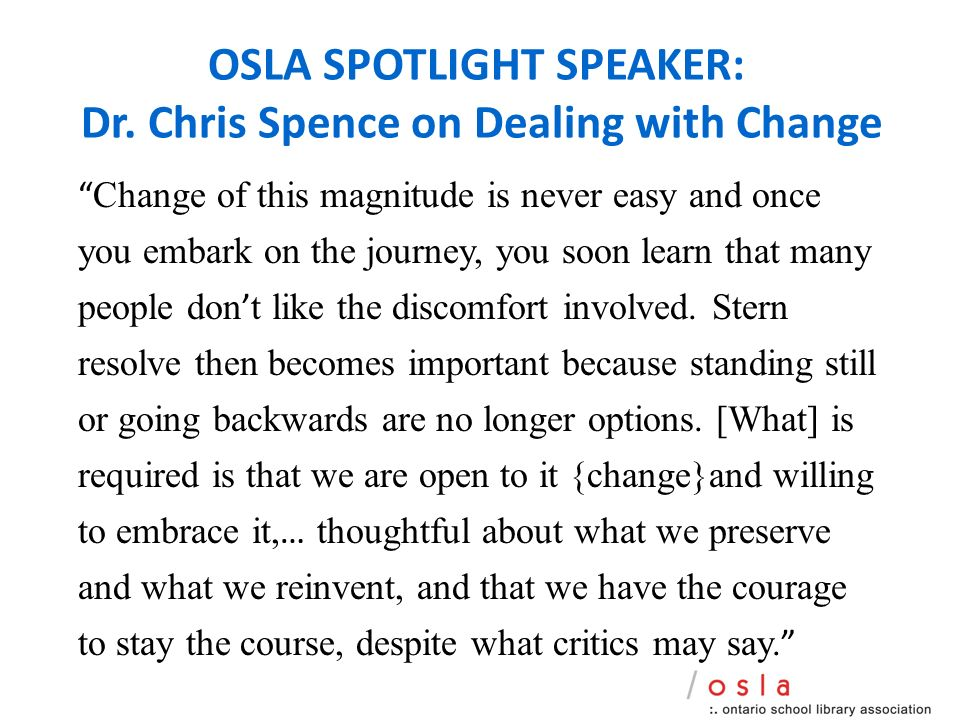 OSLA SPOTLIGHT SPEAKER: Dr.