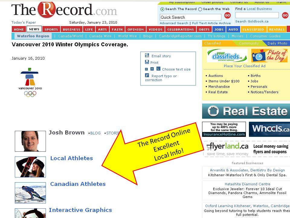 The Record Online Excellent Local Info!