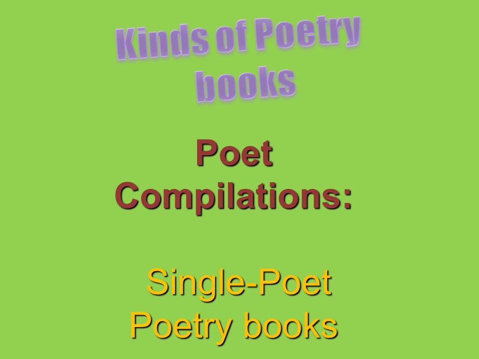 Poet Compilations: Single-Poet Single-Poet Poetry books