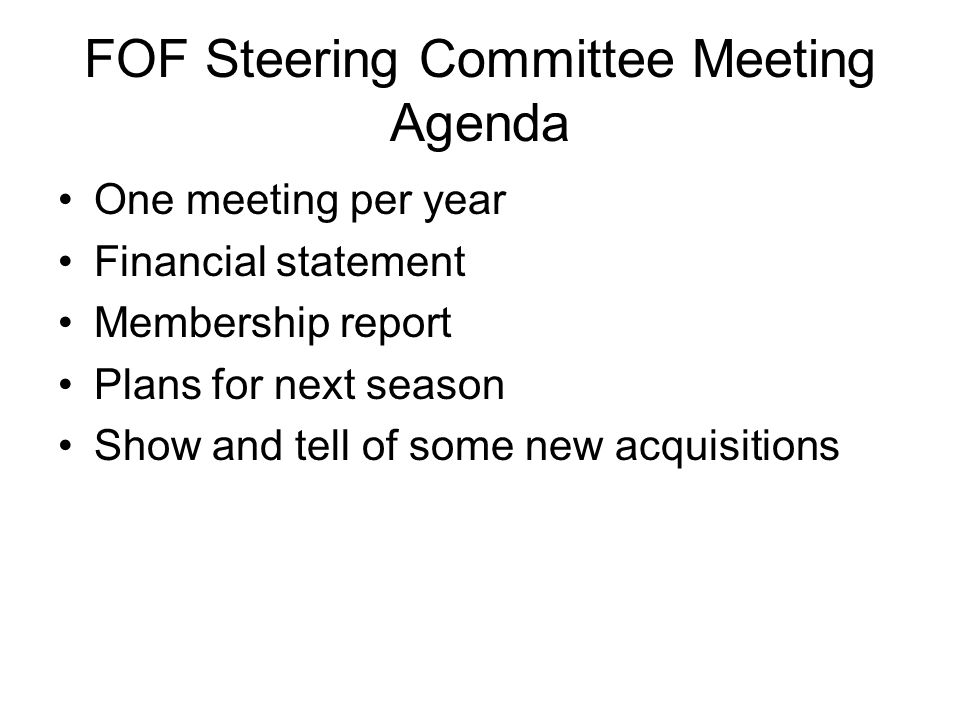 Lessons learned Governance and Accountability– Most fund raising enterprises have large steering committees with steering committee members drawn from the major donor pool.
