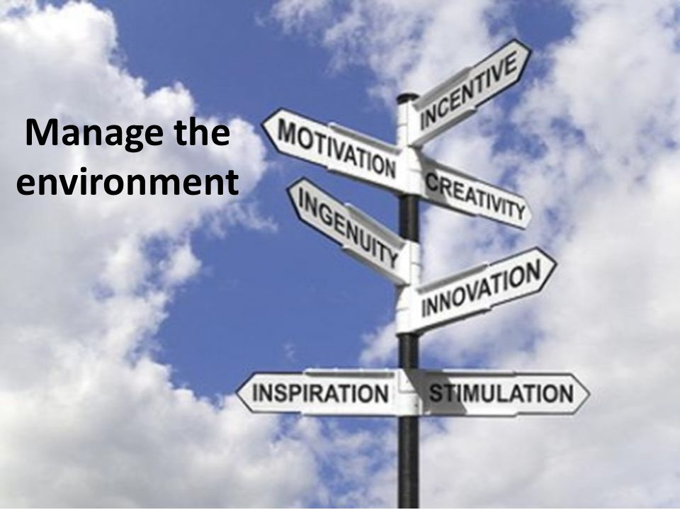 Manage the environment