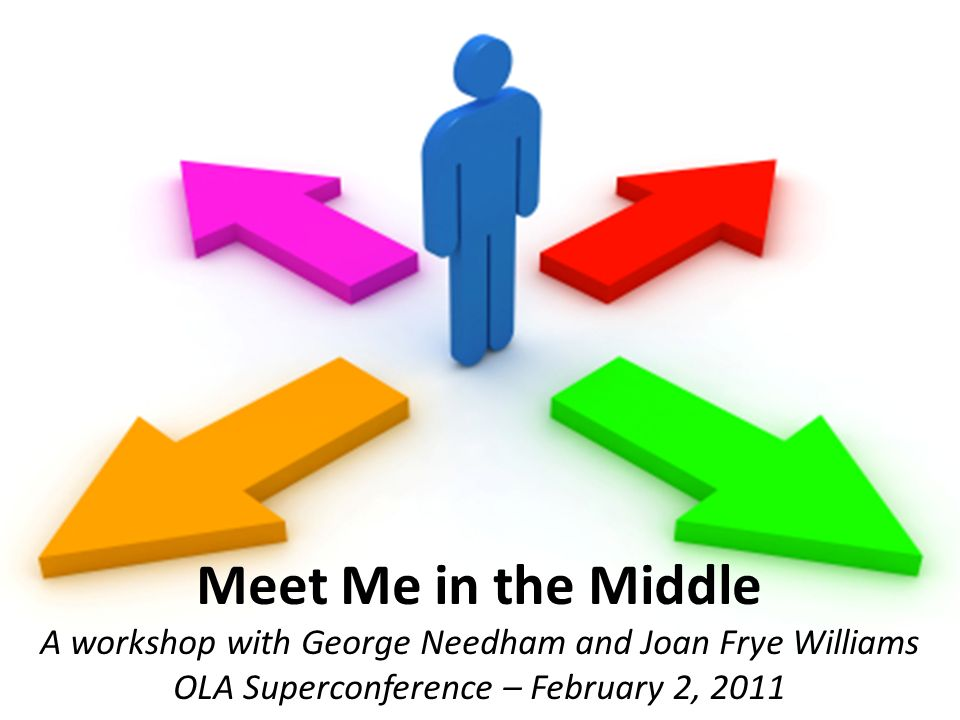 Meet Me in the Middle A workshop with George Needham and Joan Frye Williams OLA Superconference – February 2, 2011