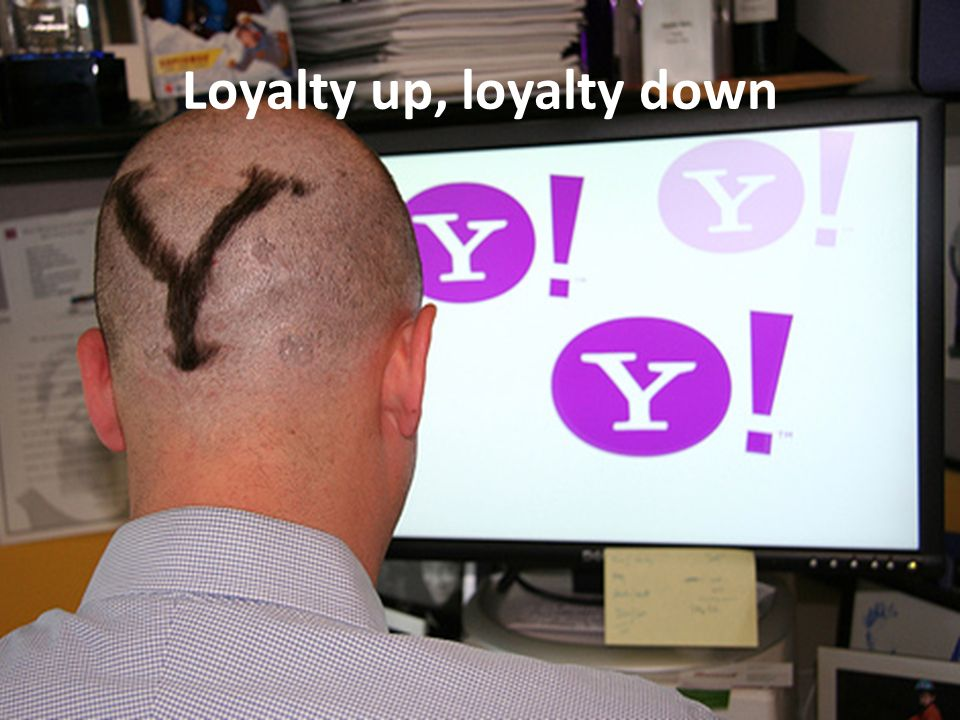 Loyalty up, loyalty down