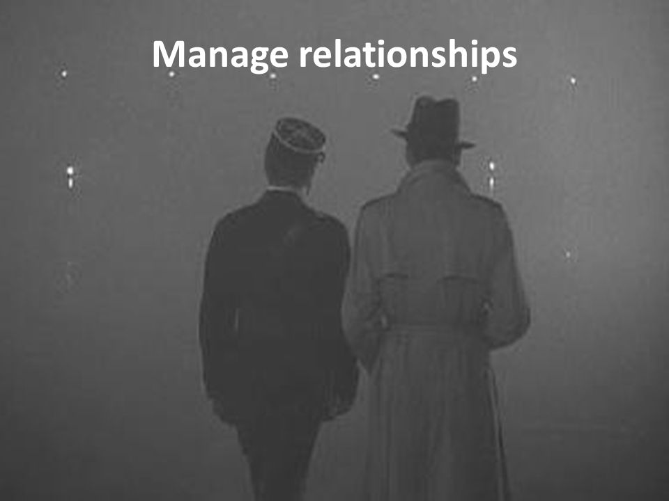 Manage relationships