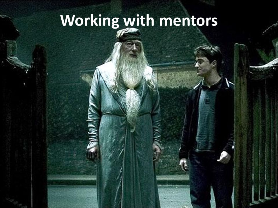 Working with mentors