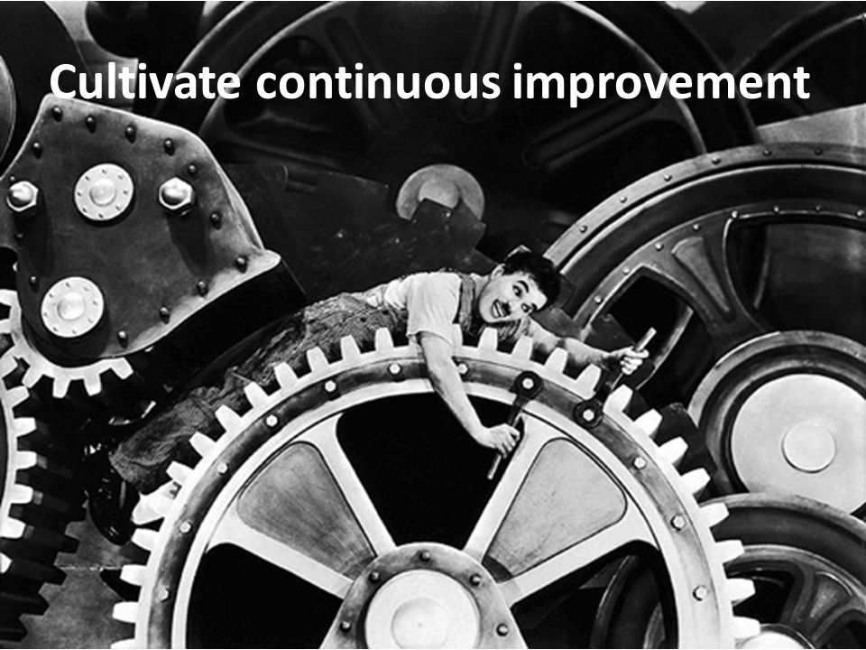 Cultivate continuous improvement