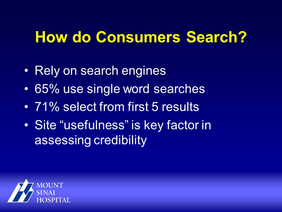 How do Consumers Search.