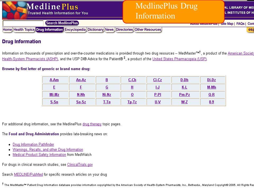 MedlinePlus Drug Information