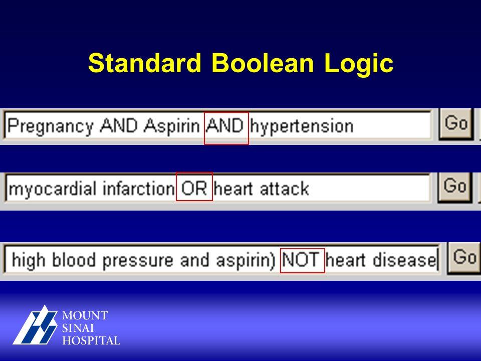 Standard Boolean Logic