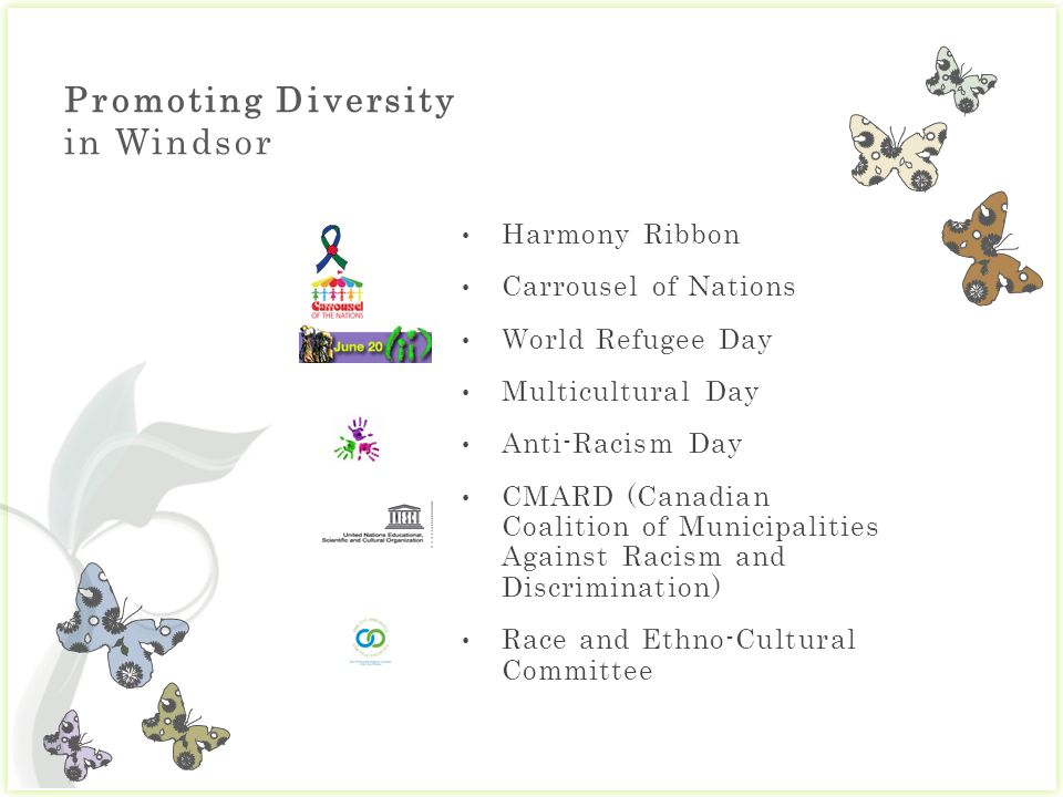 Promoting Diversity in Windsor