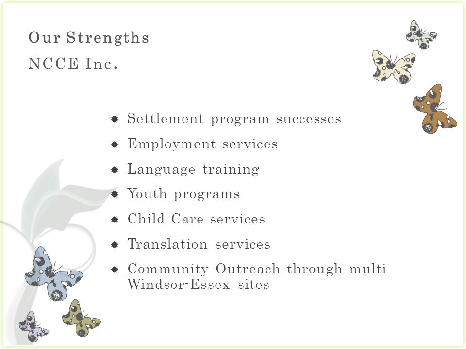 Our Strengths NCCE Inc.