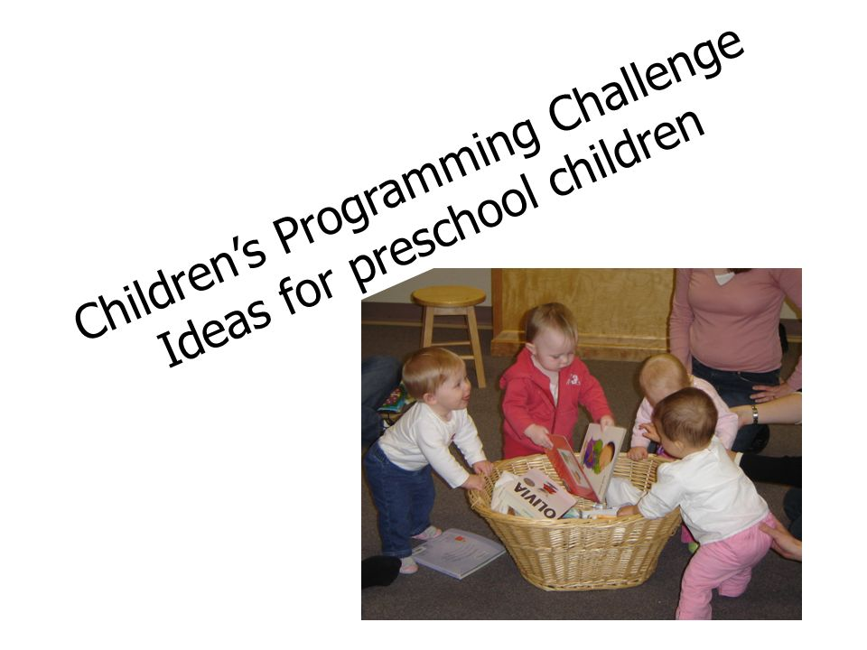 Childrens Programming Challenge Ideas for preschool children