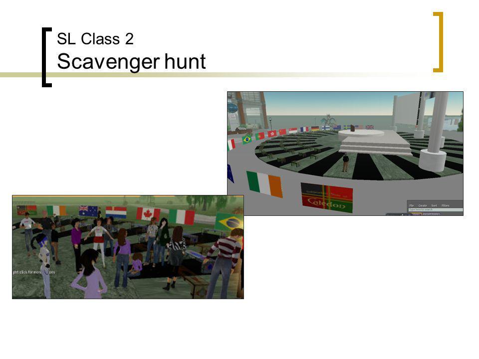 SL Class 2 Scavenger hunt