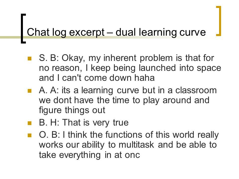 Chat log excerpt – dual learning curve S.