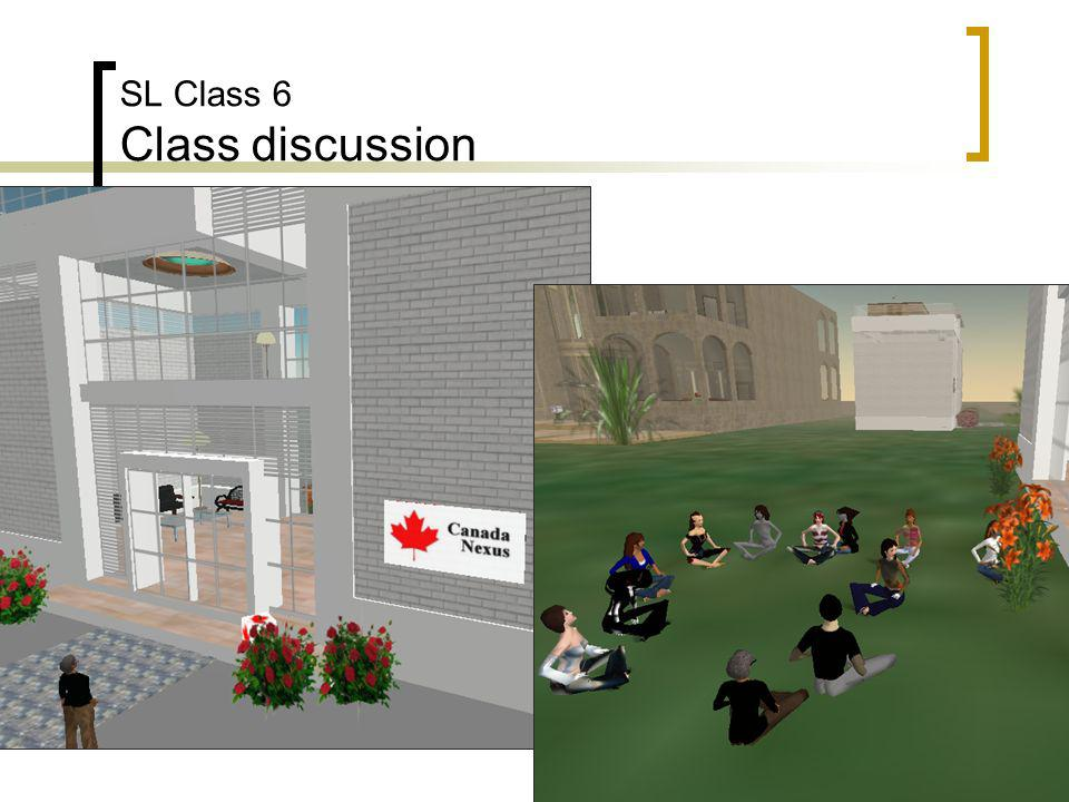 SL Class 6 Class discussion