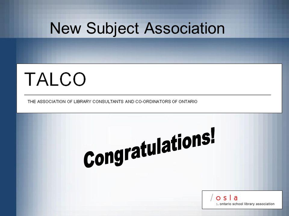 New Subject Association