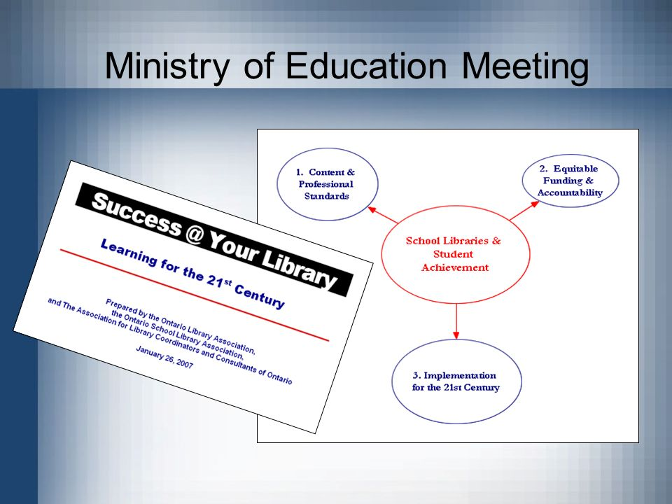 Ministry of Education Meeting