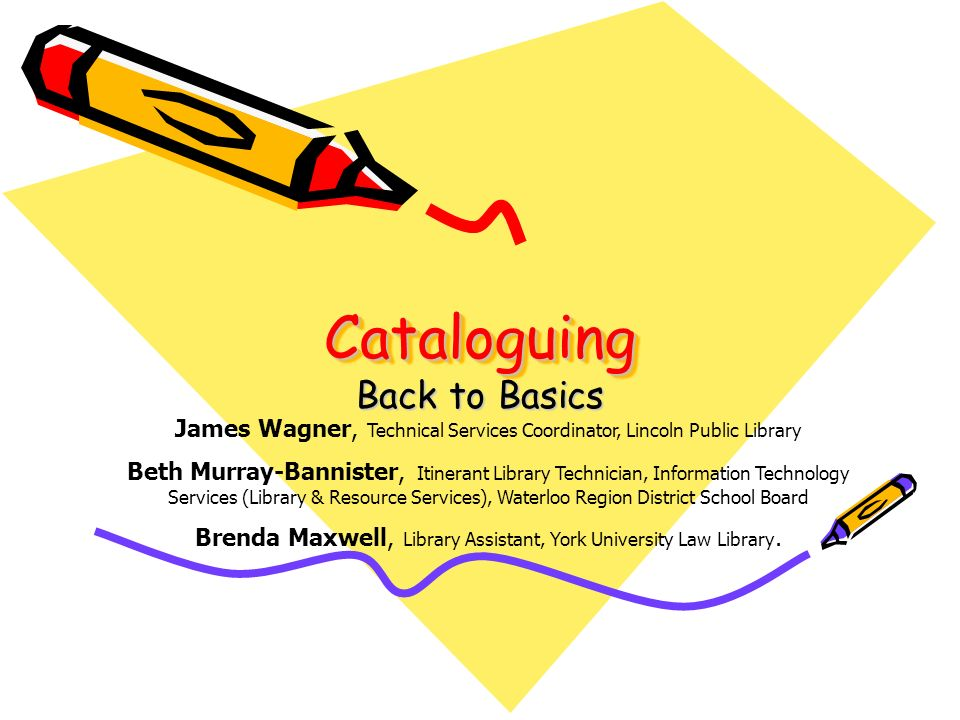 Cataloguing and Customer Service To provide exceptional service Service is reflected in the accuracy of our catalogue We help patrons find information in the catalogue with ease