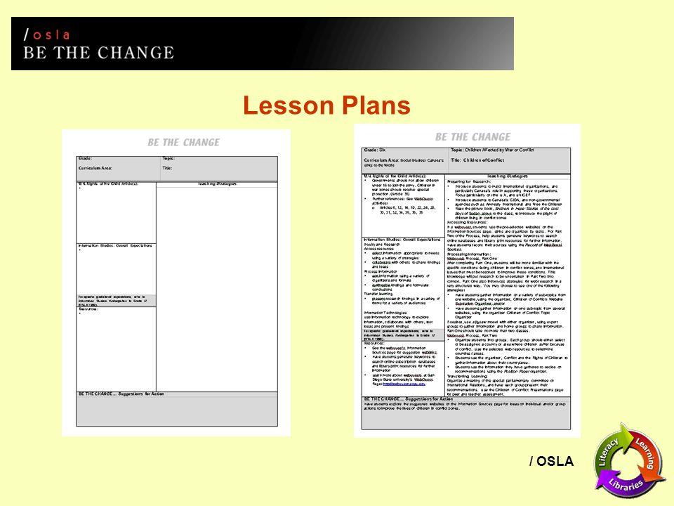 / OSLA Lesson Plans