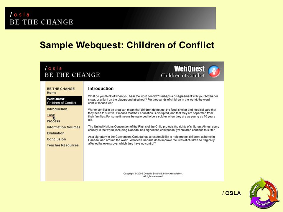 / OSLA Sample Webquest: Children of Conflict