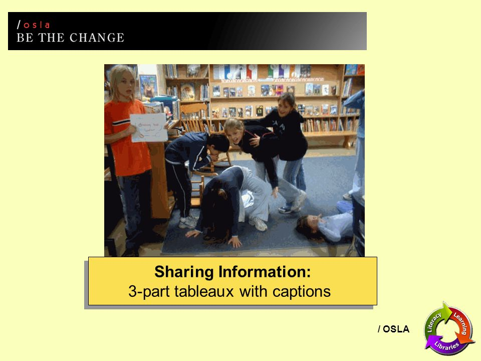 / OSLA Sharing Information: 3-part tableaux with captions Sharing Information: 3-part tableaux with captions
