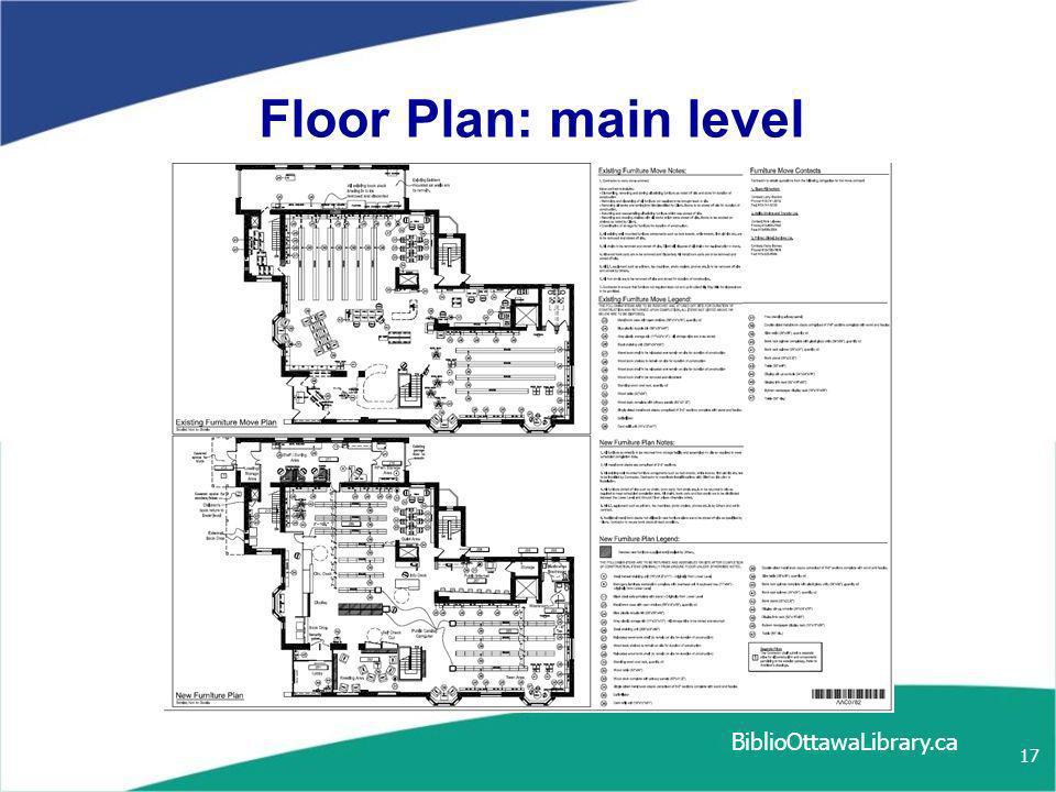BiblioOttawaLibrary.ca 17 Floor Plan: main level